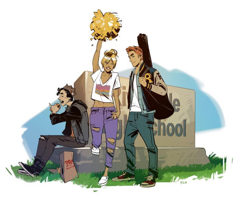 Jughead, Betty e Archie ci danno il benvenuto a Riverdale