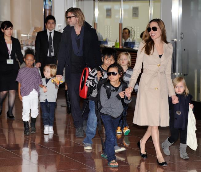 I Brangelina con i figli