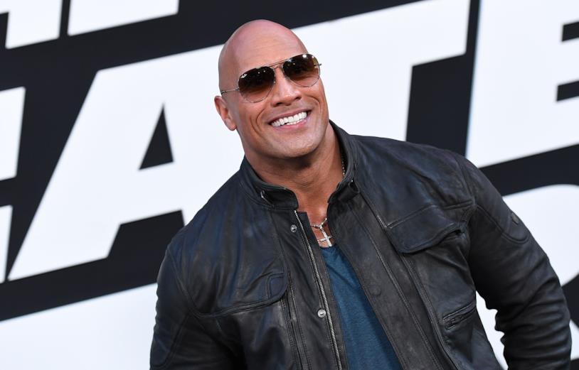 L'attore e wrestler Dwayne 'The Rock' Johnson