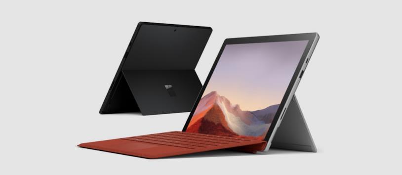 Immagine stampa di Surface Pro 7