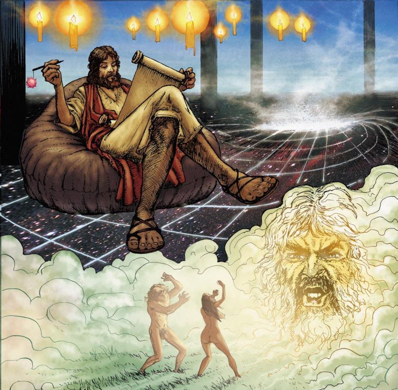 Un'immagine tratta dal fumetto di Russell e Pace
