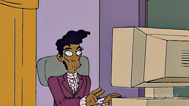 Prince in versione Simpson