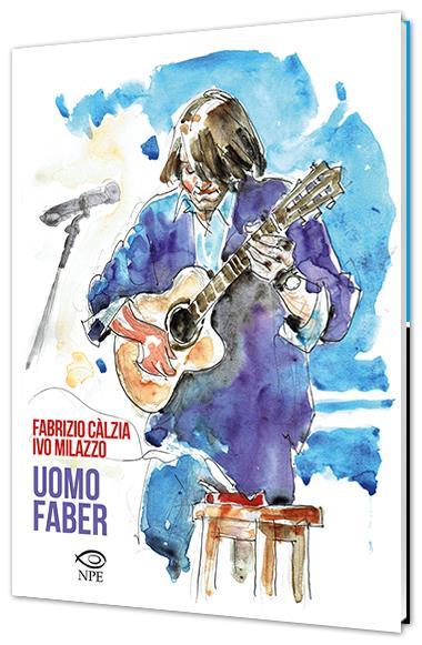 Fabrizio De André nella copertina del fumetto di Ivo Milazzo