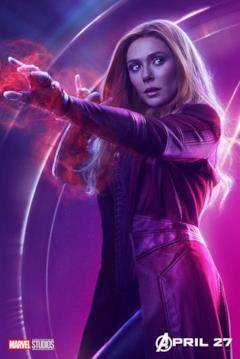Il poster del personaggio di Scarlet Witch