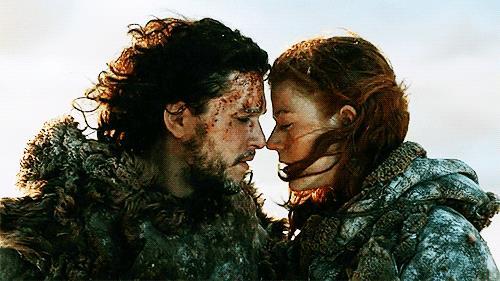 Jon Snow con il suo grande amore, Ygritte
