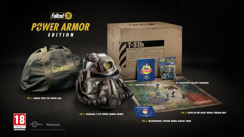 La Power Armor Edition di Fallout 76 in tutti i suoi contenuti