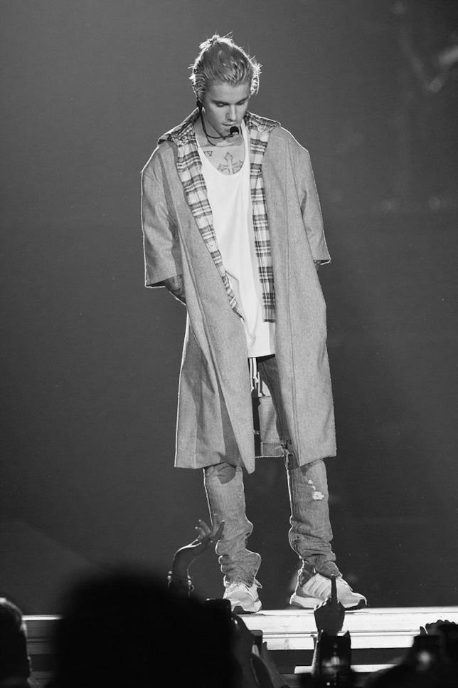 Justin Bieber sul palco del Purpose World Tour