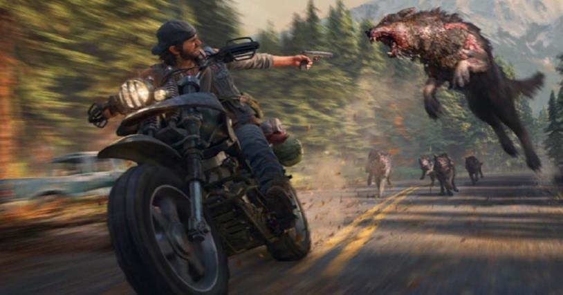 Days Gone attacco in moto
