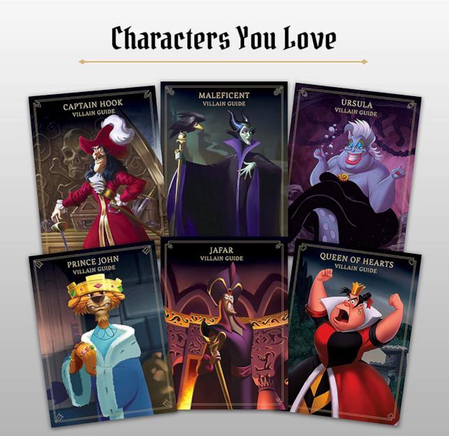 I sei cattivi Disney protagonisti del gioco da tavola