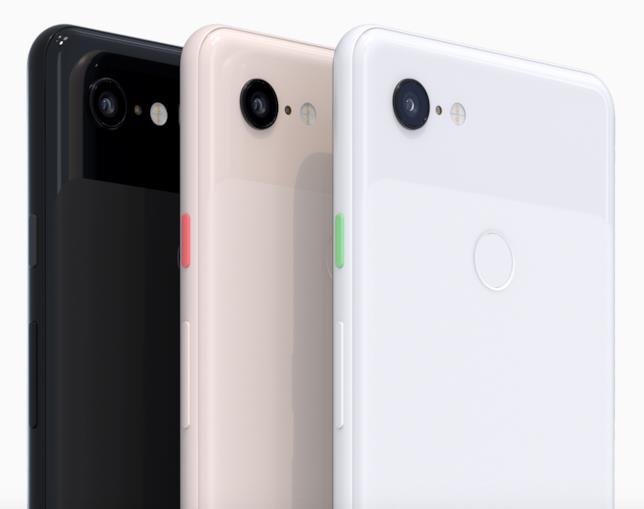 I colori della scocca posteriore dei nuovi Pixel 3 e 3 XL