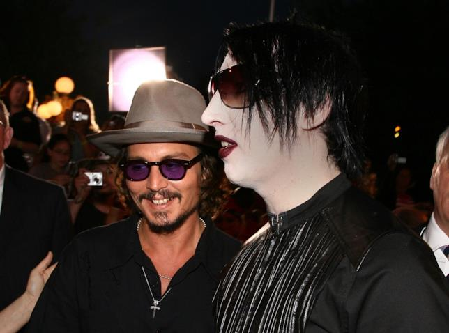 Marilyn Manson insieme a Johnny Depp