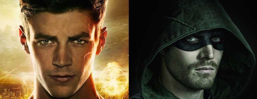 I due supereroi DC Comics Arrow e Flash