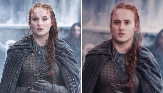 Sansa Stark in versione maschile