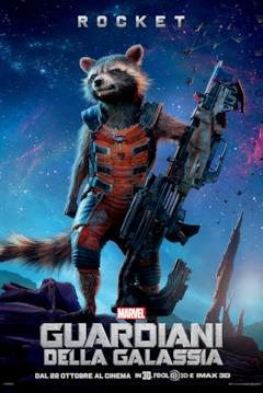 Il character poster di Rocket Raccoon