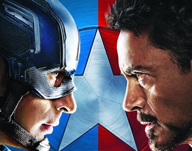 Copertina del DVD di Captain America: Civil War