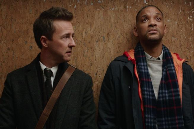 Will Smith ed Edward Norton in Collateral Beauty