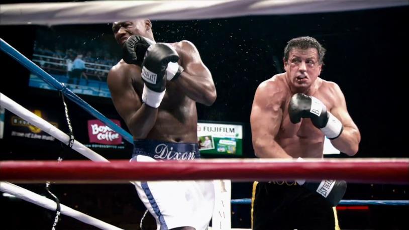 Rocky Balboa da un pugno a Mason Dixon, nel film Rocky Balboa