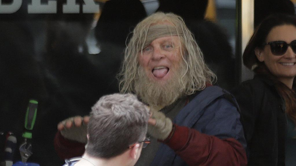 Anthony Hopkins sul set di Thor: Ragnarok