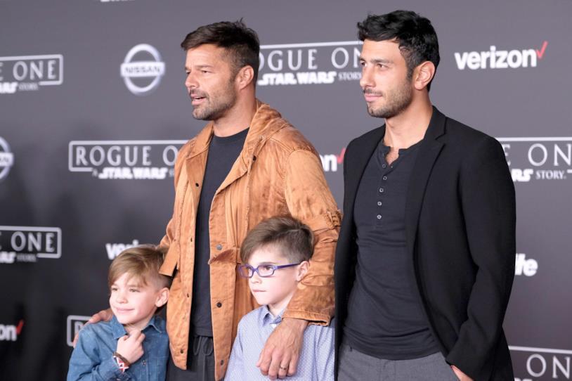 RIcky Martin con il compagno Jwan Yosef e i due gemelli Valentino e Matteo