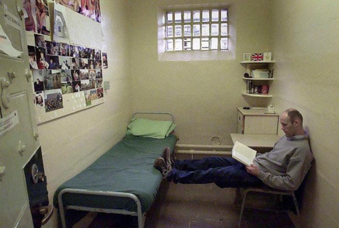 L'interno della struttura HM Prison Dartmoor, Princetown, Inghilterra