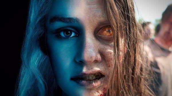 Mashup di Daenerys Targaryen e uno zombie di The Walking Dead