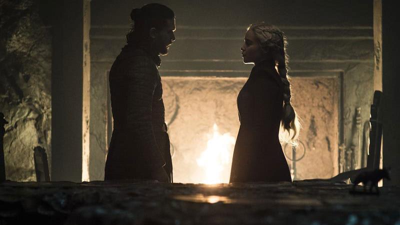 Jon e Daenerys in Game of Thrones 8