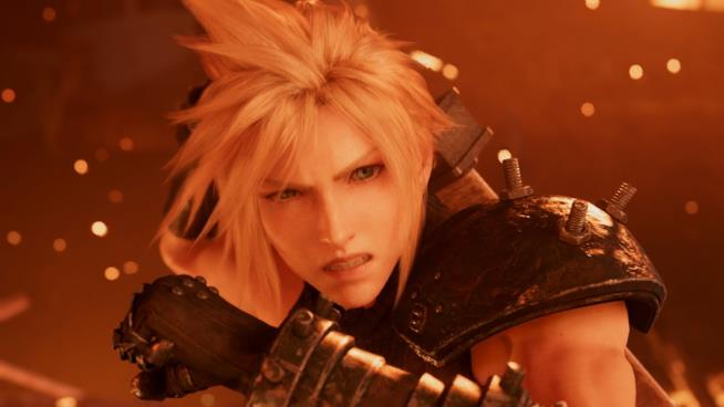 Cloud Strife nel remake di Final Fantasy VII per PS4