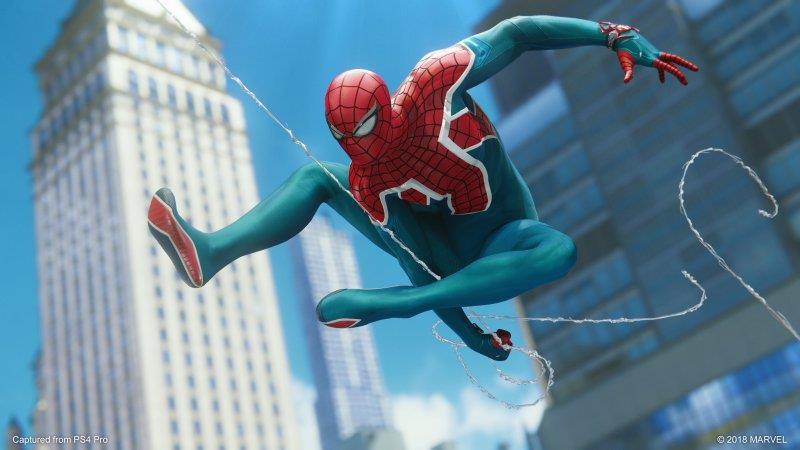 Immagine promozionale del costume di Spider-UK in Marvel's Spider-Man per PS4
