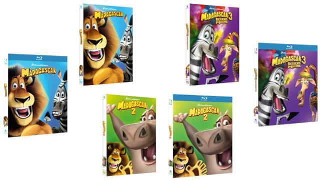 Madagascar DVD e Blu-ray