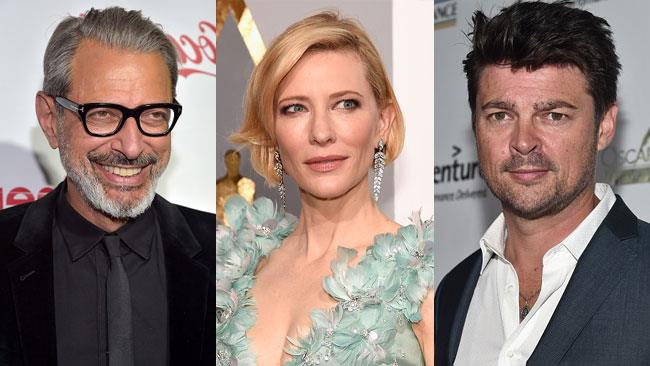 Jeff Goldblum, Cate Blanchett e Karl Urban
