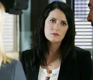 Emily Prentiss sul set di Criminal Minds