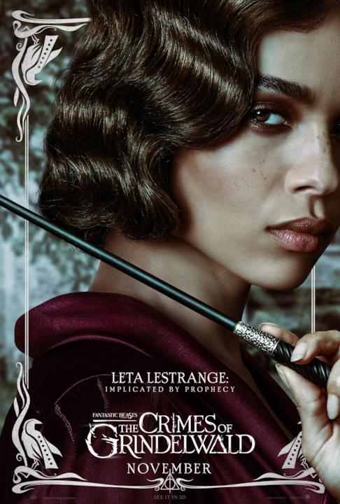 Leta Lestrange il poster di Animali Fantastici 2
