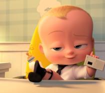 Baby Boss con un'espressione soddisfatta