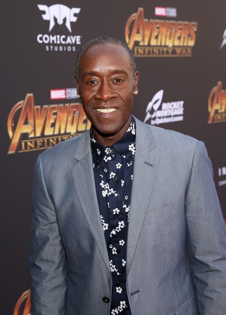 Don Cheadle alla prima di Avengers: Infinity War