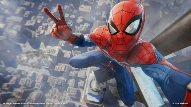Spider-Man nel gioco omonimo su PS4