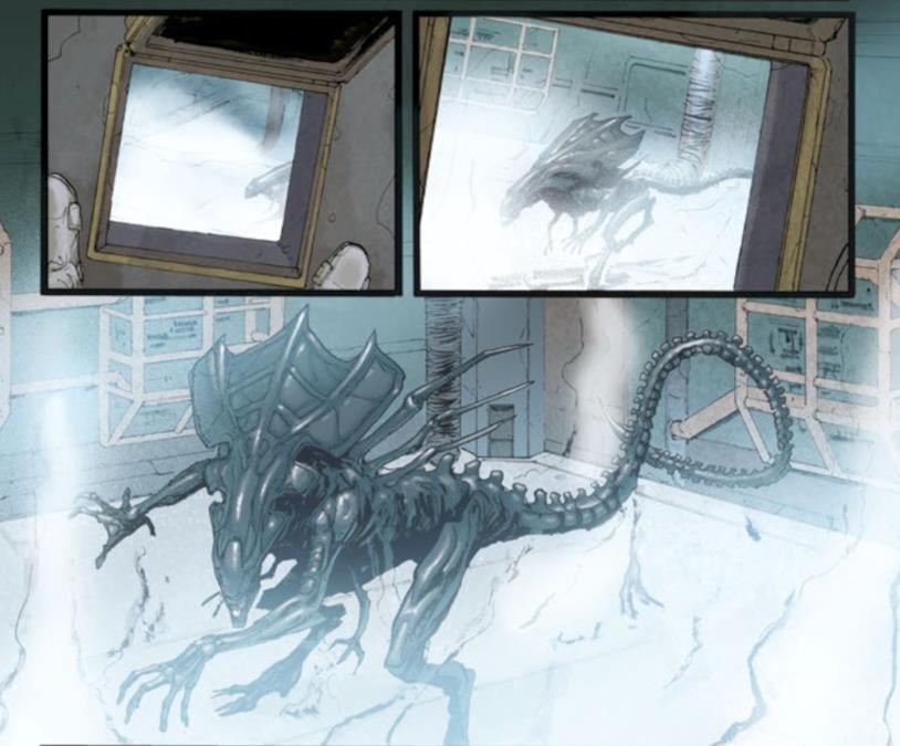 La Regina congelata in Aliens #5