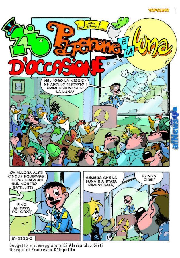 Una pagina del prossimo numero di Topolino