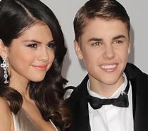 Un primo piano di Selena Gomez e Justin Bieber quando stavano insieme