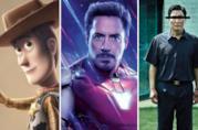 Da sinistra una immagine di Toy Story 4, Avengers: Endgame e Parasite