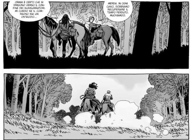 Aaron e Michonne alla caccia di Negan nelle vignette di Charlie Adlard