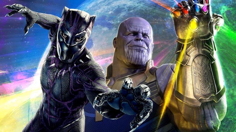 Chadwick Boseman e Josh Brolin nei panni rispettivamente di Black Panther e Thanos