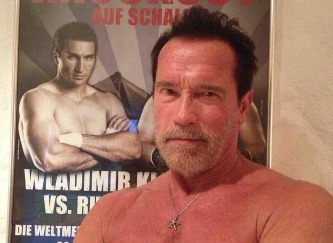 L'ex Governatore della California, l'attore Arnold Schwarzenegger