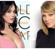 Primo piano di Katy Perry e Taylor Swift