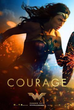 Wonder Woman alla carica nel poster del film