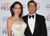 Brad Pitt e Angelina Jolie insieme sul red carpet durante l'AFI Fest nel 2015