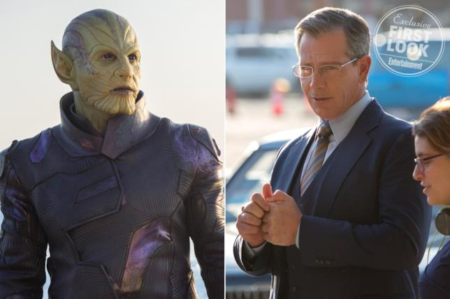 Ben Mendelsohn in versione umana e Skrull