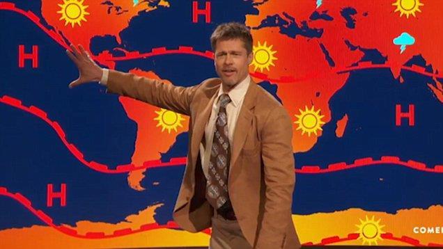 Brad Pitt è diventato un meteorologo?