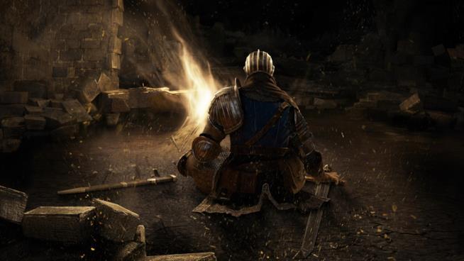 Una pausa al Falò in Dark Souls Remastered