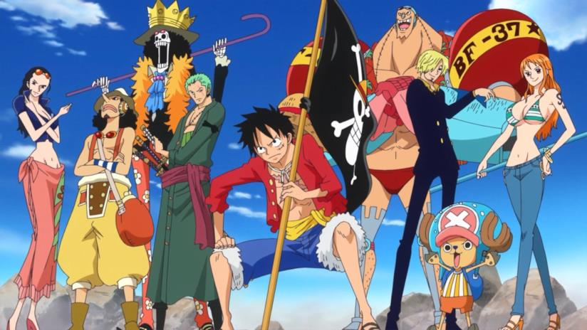 I personaggi di One Piece in posa
