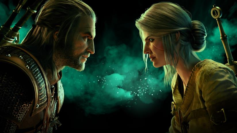 Geralt e Ciri in Gwent: The Witcher Card Game